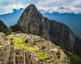 Adult 1000 piece jigsaw puzzles. Large scenic mountain landscape of Machu Picchu, Peru National Park photo gift for men and women.