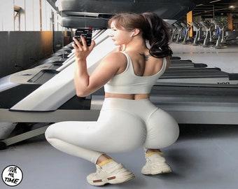 Seamless Bubble Butt Leggings Push Up Booty Tights Wear Workout Legging Yoga Pants High Waist Sportswear Women Black Fitness Gym Exercise