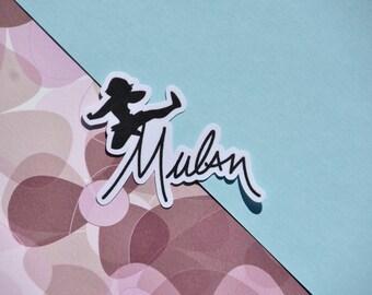 Mulan Disney Character Signature Sticker
