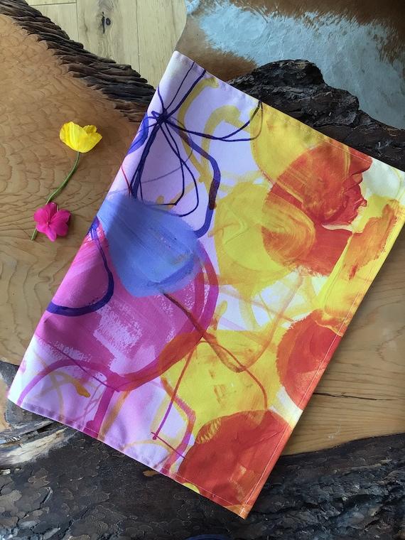 Designer floral inspired Tea Towels