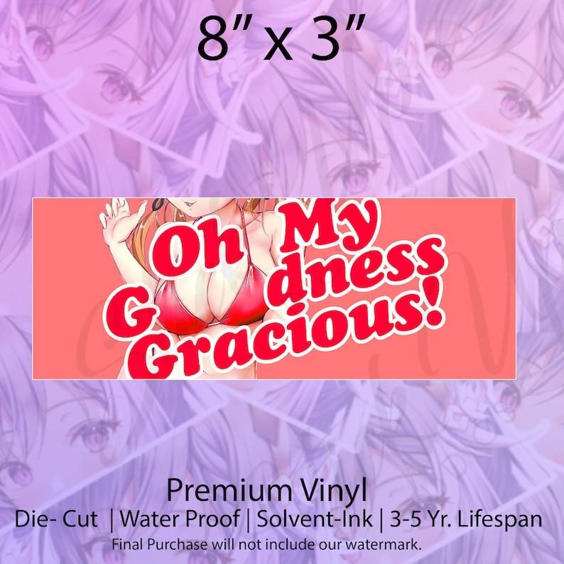 Waifu Boobs Ecchi Vinyl Sticker Ecchi Oppai Bikini Waifu Oppai Big Boobs Sticker Lewd Anime Girl Car Decal Waifu Car Decal Anime boobs