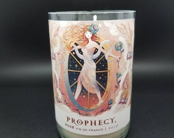 Prophecy Rosé Wine Bottle Soy Candle