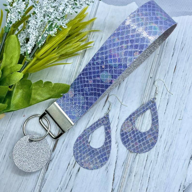 Key Fob Easter Basket Gift Wristlet Gift Set Mothers Day Gift Teenager Gift Earring Set Keychain Gift for Her Wristlet for Her