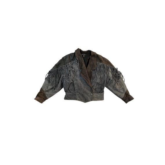 80s Fringe Tassel Leather Jacket