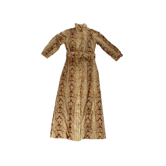 70s Sparkle Belted Snake Dress