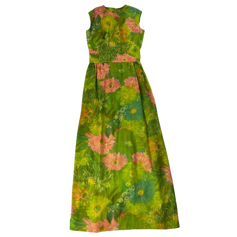60s Floral Mod Maxi Dress