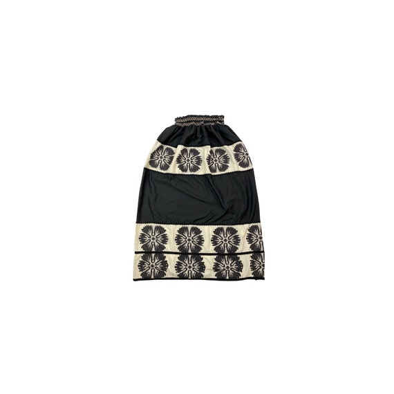 60s High Waisted Embroidered Skirt