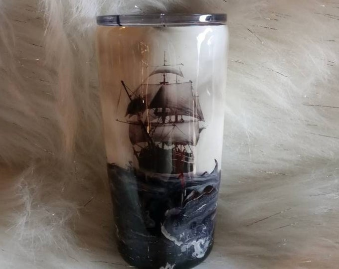Ghost Ship on a Stormy Sea