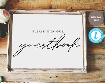 please sign our guestbook sign, wedding signs, guestbook sign, love is sweet, editable pdf, templett template KELLY COLLECTION