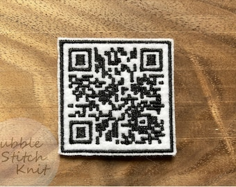 Rick Astley QR Code Patch | RickRoll Sew-On Embroidery Patch