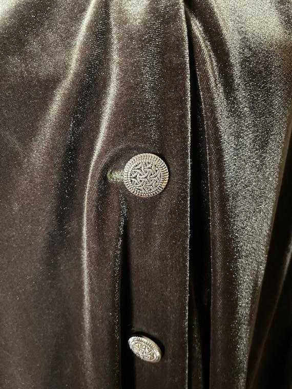 Silvery Lovat Velvet Cloak - image 3