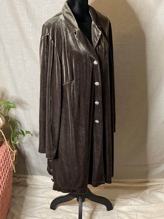 Silvery Lovat Velvet Cloak - image 2