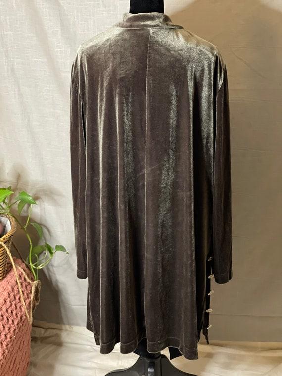 Silvery Lovat Velvet Cloak - image 4