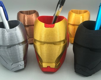 Iron Man pencil holder