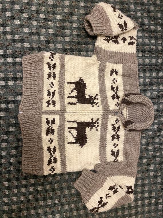 Cowichan Handknit Zipper Cardiagan