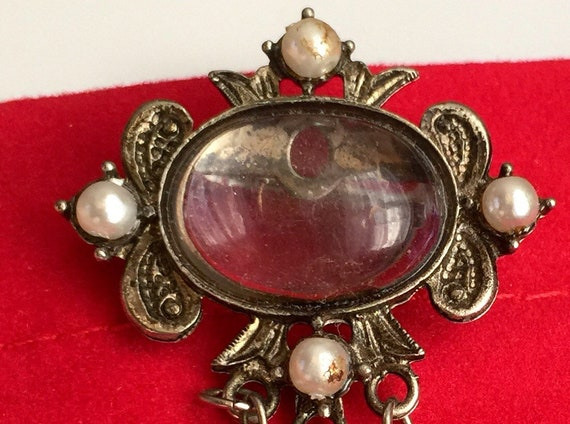 Antique Victorian Pools of Light Brooch, Pearls