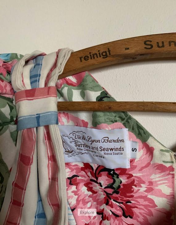 1980s Suttles & Seawinds Floral dress - image 5