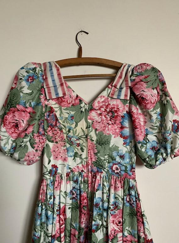 1980s Suttles & Seawinds Floral dress - image 4