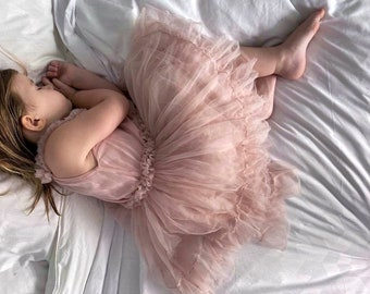 Flower Girls Tutu * Princess Dress * Toddler Tutu * Flower Girl * Toddler Birthday Dress * Boho Tutu Dress