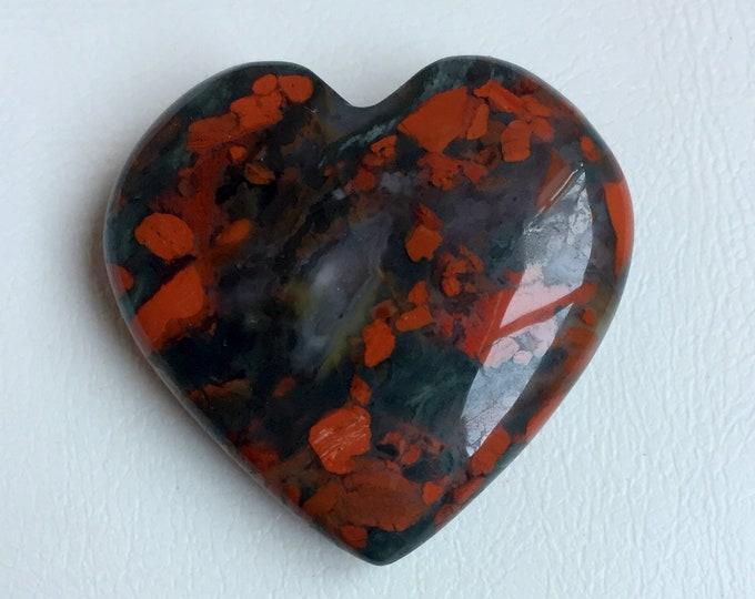 Beautiful Heart Shape Mookaite  jasper Gemstone For Jewellery  Gemstone Making 40x39x11mm 40702 Amazing Mookaite jasper Cabochon