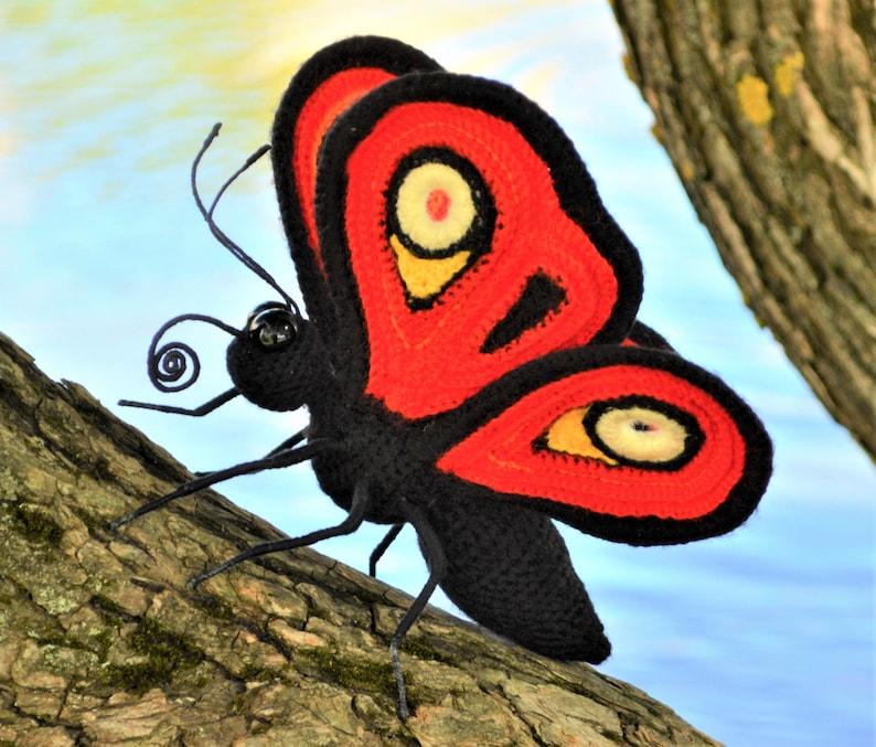 Crochet pattern PDF . Butterfly Peacock Eye
