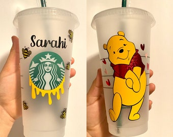 Disney Winnie The Pooh Cup Winnie the Pooh 24oz Reusable Personalized Color Changing Cup Color Change Cup Pooh Coffee Cup Pooh Bear Cup