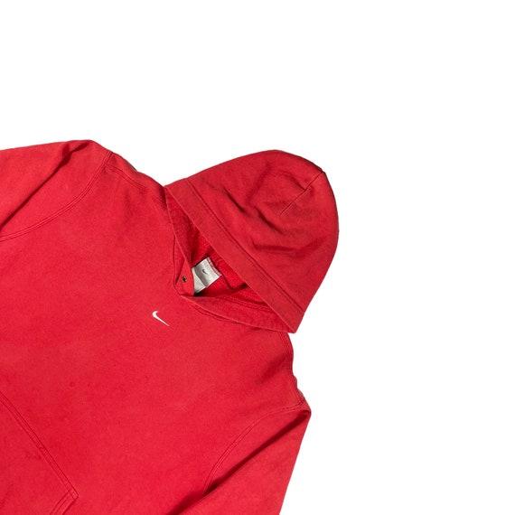 Vintage Red Nike Mid Swoosh Hoodie
