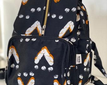African fabric backpack, wax print backpack, ankara bag