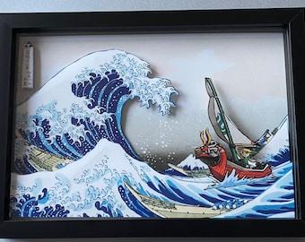 Legend of Zelda Great Wave Off Kanagawa  3D Art