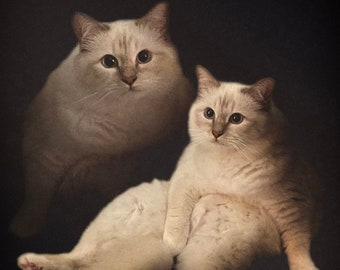 One Pet - Personalised 80's Style Pet Portraits - Digital Art