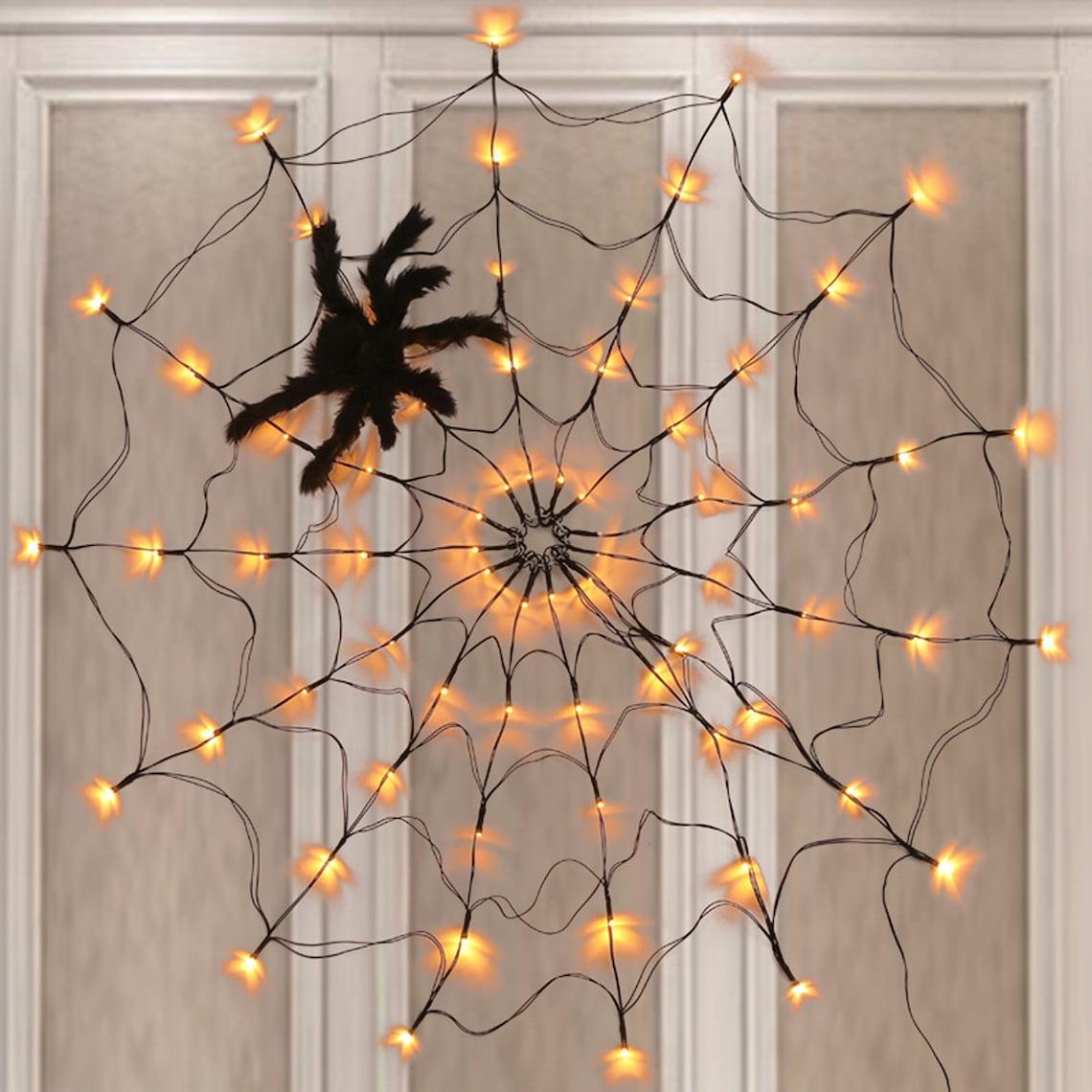 Halloween Black Spider Web Light Scrary Halloween Decor image 0