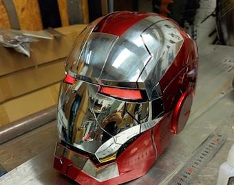 Iron Man Mark 5 Mk5 Helmet Mask LED Cosplay Metal Prop