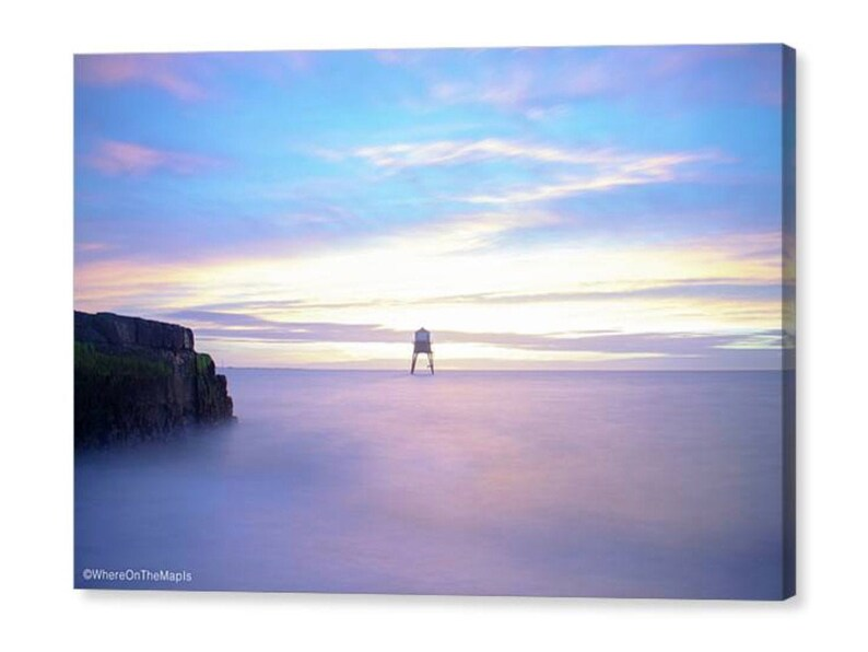 Dovercourt Lighthouse Canvas Sunrise Seascape Canvas Harwich Beach Wall Art Canvas Print of Sunrise at Dovercourt Beach