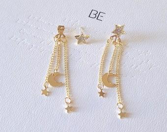 RM BTS Moonchild Tassel Earrings