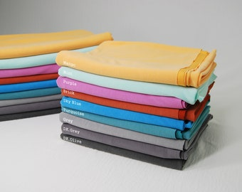 Ultra Soft 75D MODAL Fabric by the yard, Soft hand feel with Medium weight*Free SAMPLE Available*
