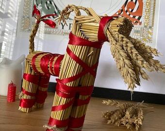 Traditional Swedish Handmade Straw Yule Goat Julbocken