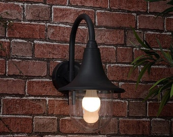 IP44 Outdoor Swan Neck Lantern Polypropylene- Home Decor UK