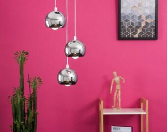 Chrome Eyeball 3 Drop Light - Home Decor UK