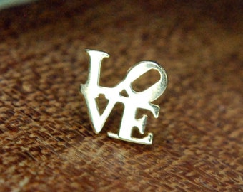 """Junipurr 14k Solid Yellow Gold """"Live, Laugh"""" Love Threadless End - Body jewellery"""