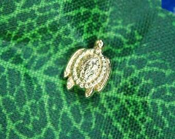 Anatometal 18k Yellow Gold Threadless Turtle End