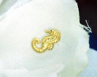 Anatometal 18k Yellow Gold Threadless Seahorse End