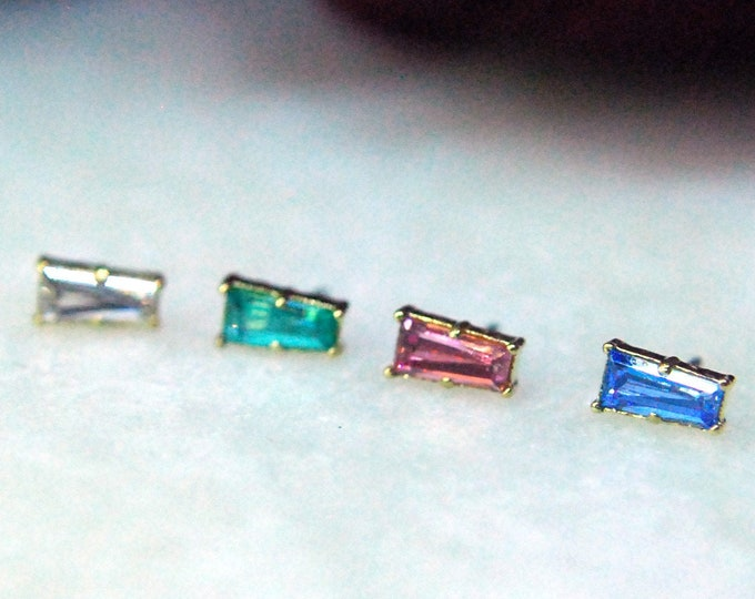 Anatometal 18k Yellow Gold Threadless Tapered Baguette End - Colour Options