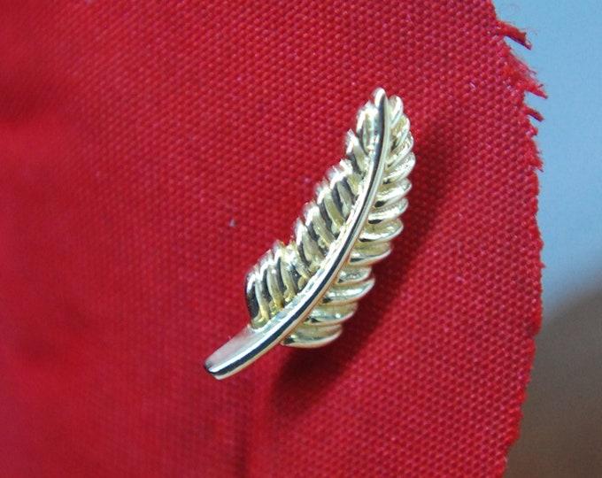 JUNIPURR 14k Gold Feather Quill Threadless End