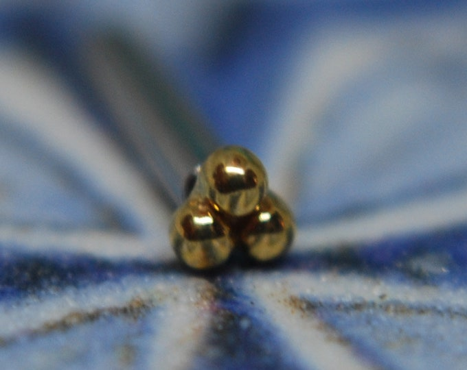 Leroi 14k Yellow Gold 3 Bead Cluster