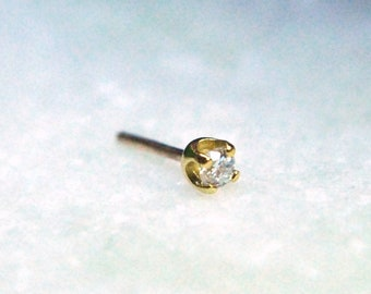 Tish Lyon 18kt Yellow Gold Claw Set Diamond Threadless End