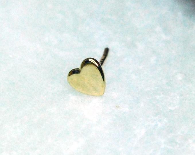 Tish Lyon 14kt Yellow Gold Heart Threadless End