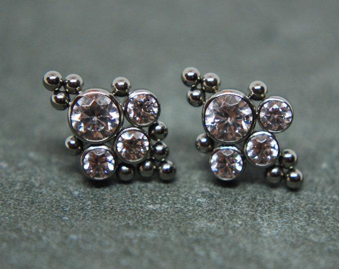 Leroi Haute Couture Bijoux 6HT Titanium Threaded Clusters -- 16ga / 1.2mm