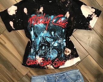 arctic monkeys when you/'re high band tee acid wash bleach tshirt