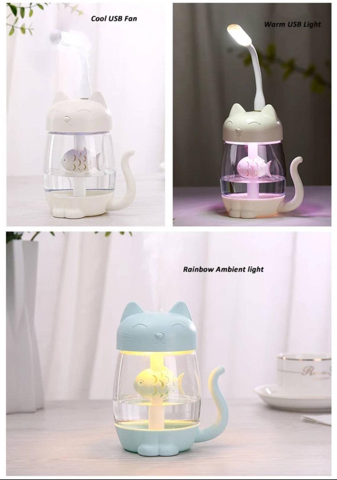 3 in 1 cute Cat Humidifier