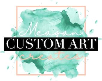 Custom Abstract Canvas